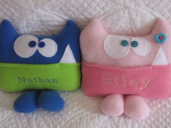 Personalized Tooth Fairy Pillow by Kooky Critters by kookycritters, $20.00