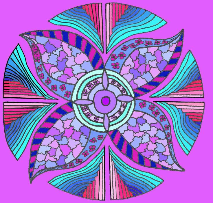 Most definitely not traditional.  A lovely Mandala shape that can be colored in so many different ways. Look at more shapes to color by clicking here.