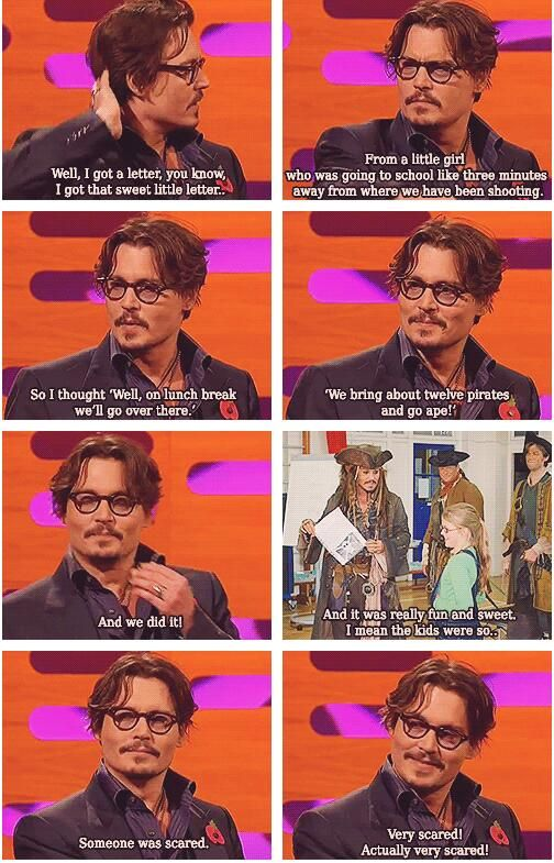 I love Johnny Depp