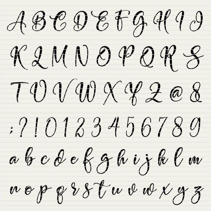 Download Spotlight SVG Font Alphabet for Cricut font svg Script ...