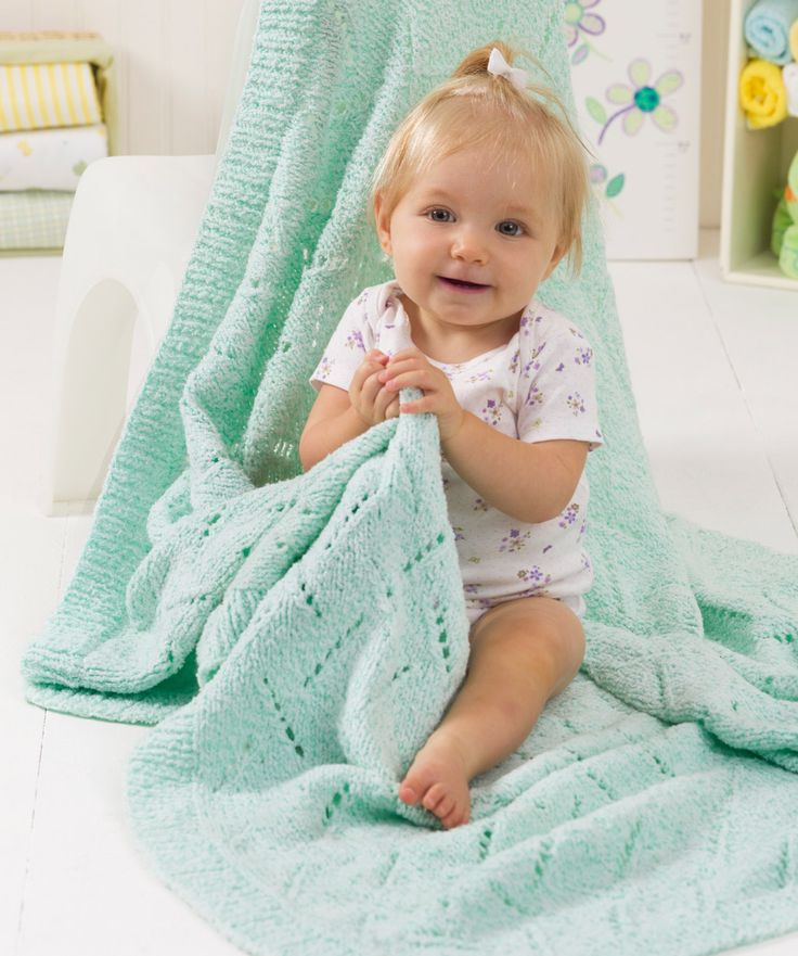 Free Knitting Patterns For Angel Babies : Soft Snuggly Baby Blanket Knitting Pattern Red Heart ...