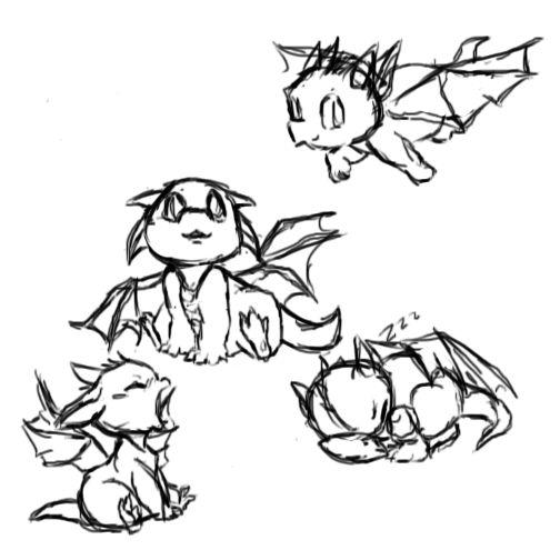 baby dragon sketch dump by FabulousFennekin.deviantart.com on @deviantART