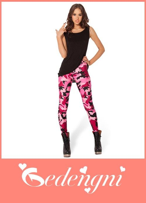 tights Sexy Ladies Camo Pink Leggings