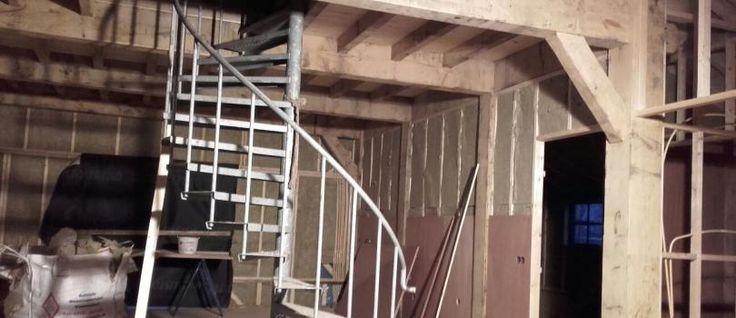 Binnen constructie hooiberg Zoelen