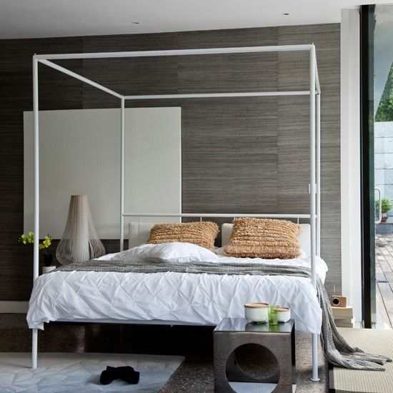 Modern four-poster bedroom