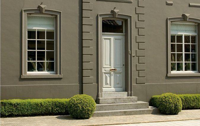25 beste idee n over grijze buitenkant verven op pinterest grijze buitenkant huizen grijze - Exterieur kleur eigentijds huis ...