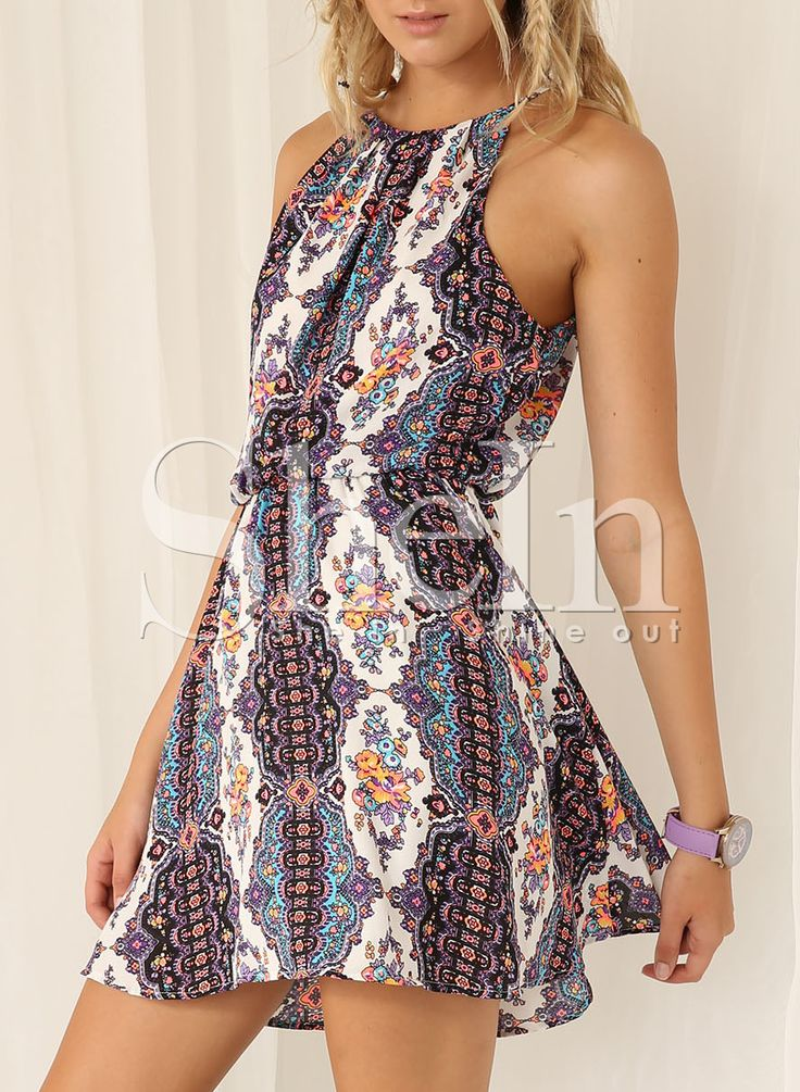 Shop White Spaghetti Strap Tribal Print Dress online. SheIn offers White Spaghetti Strap Tribal Print Dress & more to fit your fashionable needs.