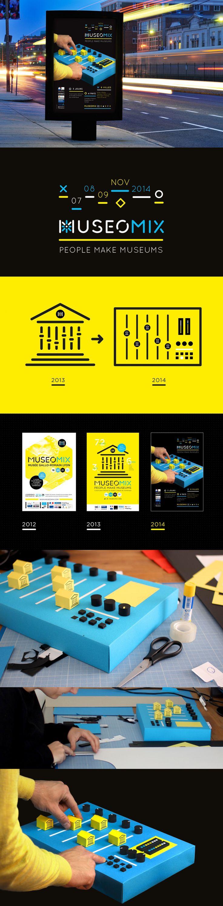 Affiche museomix 2014 réalisée par graphéine