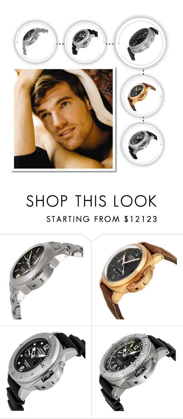 """""""Luminor Watches"""" by goldia on Polyvore featuring Panerai, men's fashion, menswear, watches, mens_watch and Luminor_Watches"""