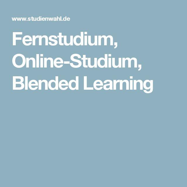 Fernstudium, Online-Studium, Blended Learning