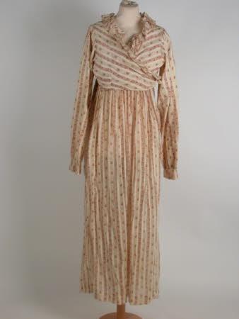 Nursing dress, 1815. Cotton, Muslin. National Trust Collections.