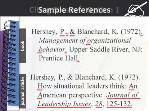 ▶ Using APA style for references and citations - YouTube