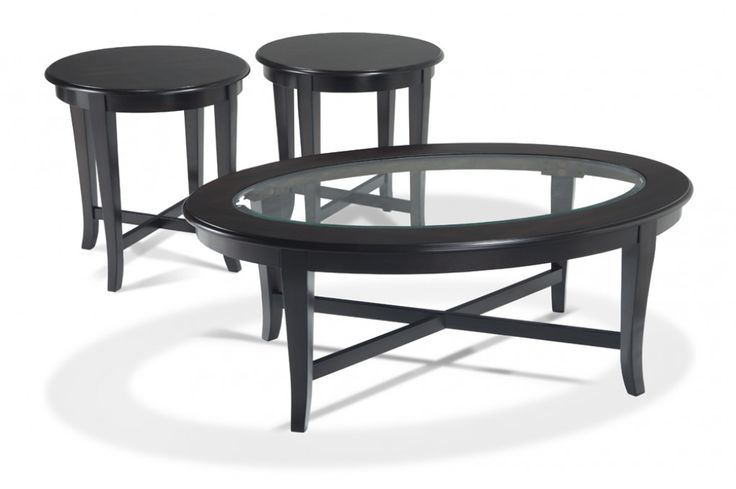 Transitional 3 Piece Coffee Table Set