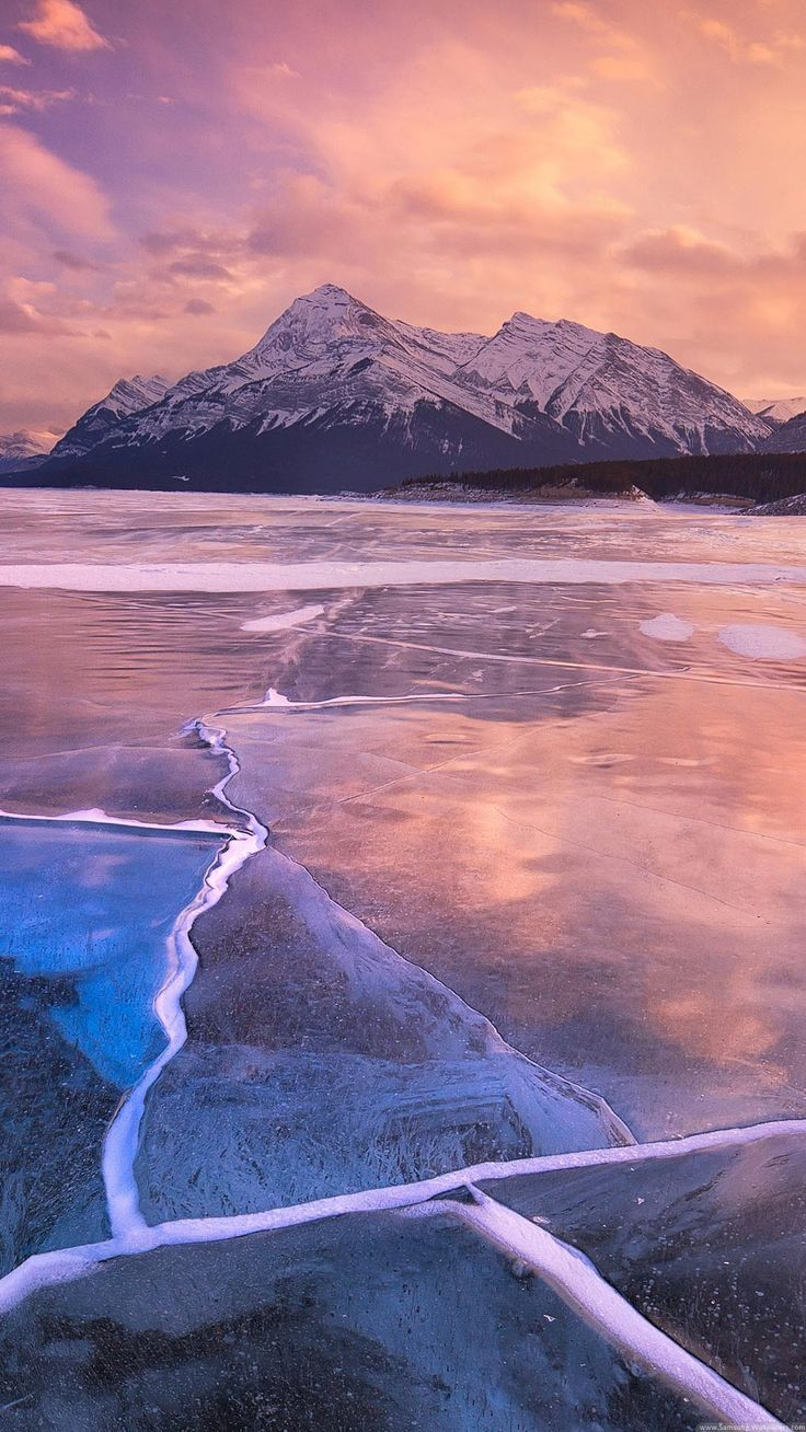 Nature iPhone 6 Plus Wallpapers Frozen Lake Sunset Lock