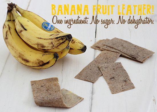 Banana Fruit Leather // A healthy alternative to fruit snacks.