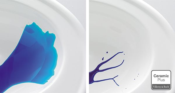 #CeramicPlus Villeroy & Boch. CeramicPlus è un trattamento superficiale nanotecnologico che contribuisce a tenere igienicamente pulita la vostra ceramica. Consente una pulizia veloce e senza fatica, con il consumo di poca acqua e poco detergente, in quanto lo sporco in pratica non aderisce.