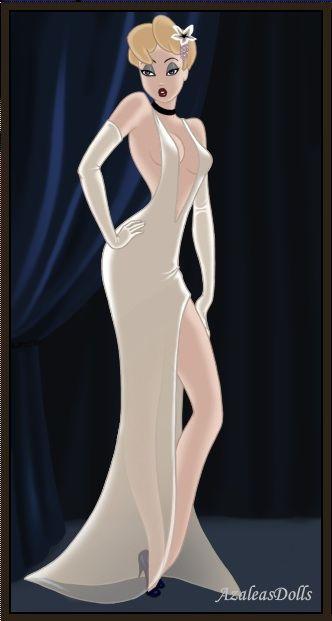 Cinderella as Jessica Rabbit by PinkPetalEntrance.deviantart.com