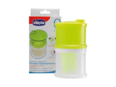Dosalatte in polvere chicco. Una volta tolti i divisori interni, entrambi i vasetti possono essere utilizzati separatamente come pratici contenitori per conservare gli alimenti del bambino in frigo o per riscaldarli nel microonde.