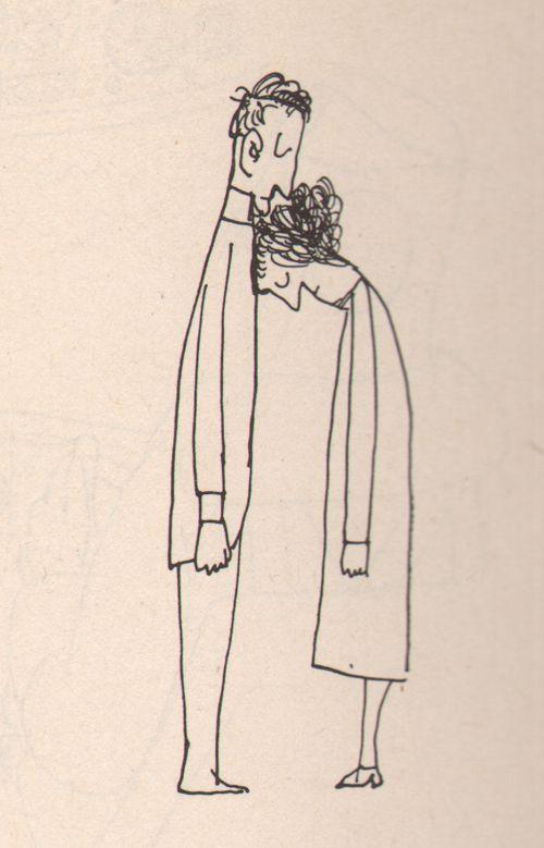 wonderful drawing by Saul Steinberg//
