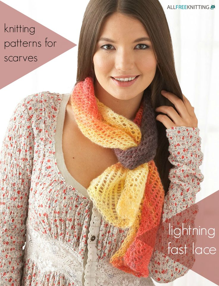33+ Knitting Patterns for Scarves: Lightning Fast Lace | These lacy knit scarf patterns are perfect for spring.