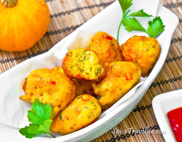 Thai spicy pumpkin fritters