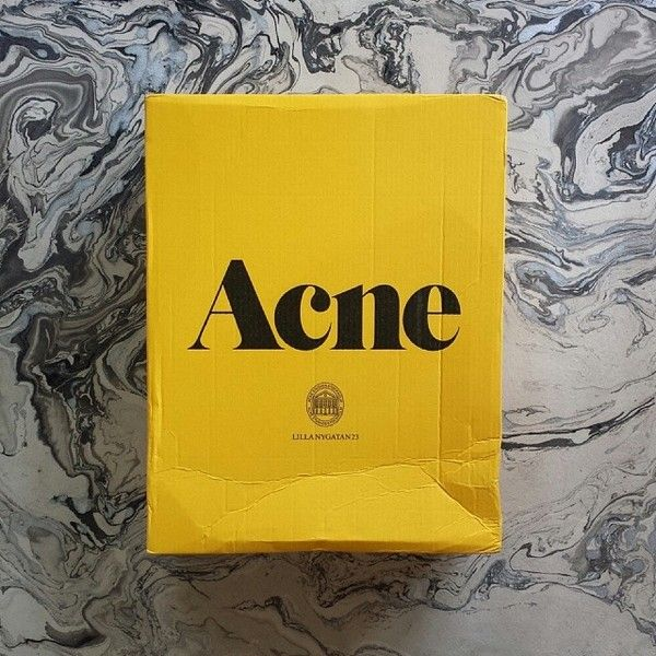 I love Acne Studios branding and packaging. It is exciting to get a yellow box (and then finding the classic pink envelope inside) — Designspiration