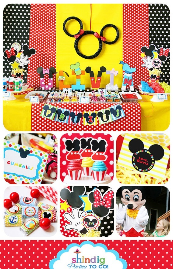 Mickey Mouse Theme :) LOVE the how the letters look like each character...think I will try this!