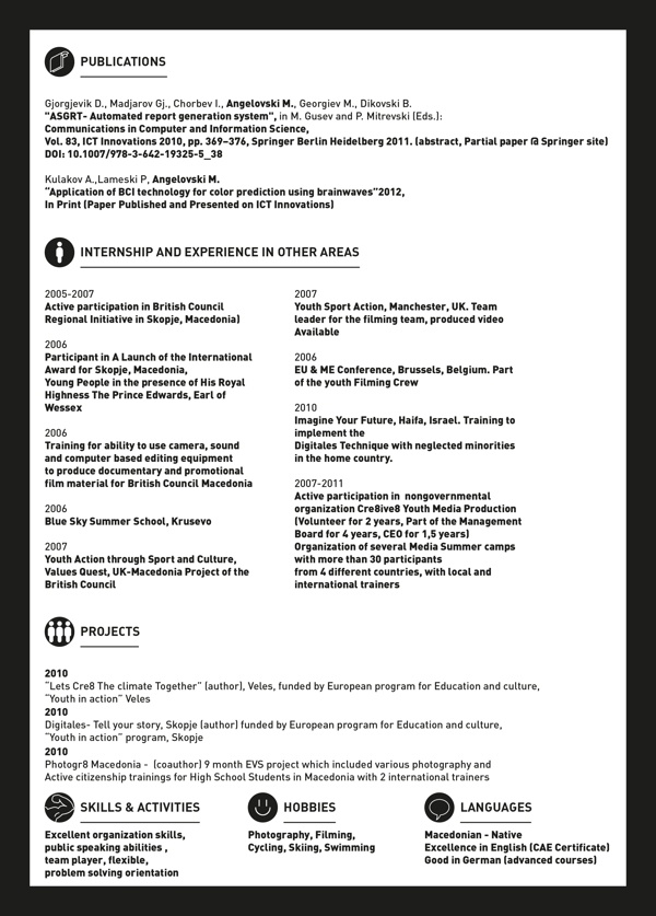 29 best resume images on pinterest curriculum cv ideas and