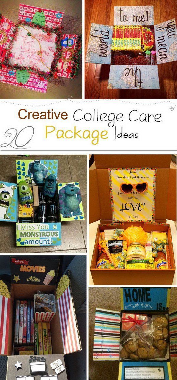 Creative College Care Package Ideas!                                                                                                                                                     More