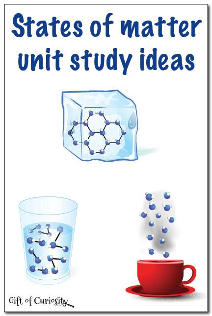 States of matter unit study ideas for teaching young kids about solids, liquids, and gasses || Gift of Curiosity