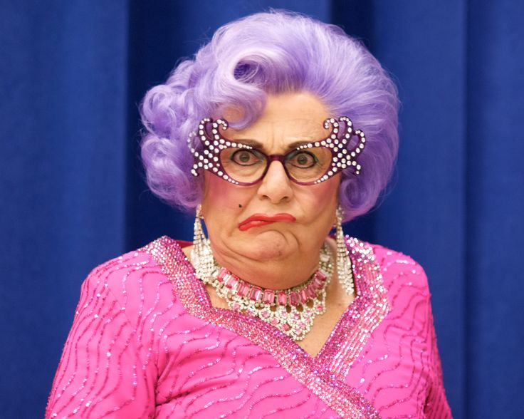 Gotta love Dame Edna!  Google Image Result for http://travelswithtallulah.files.wordpress.com/2010/02/allaboutme-19.jpg