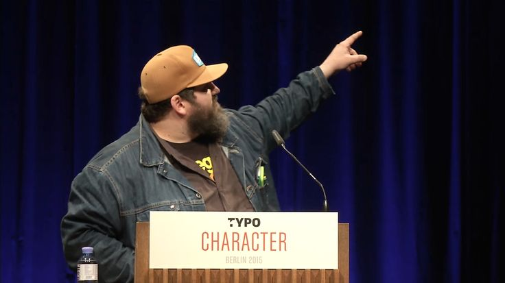 "Aaron James #Draplin at @TYPOBER: ""Tall tales from a large man"" #typo15"