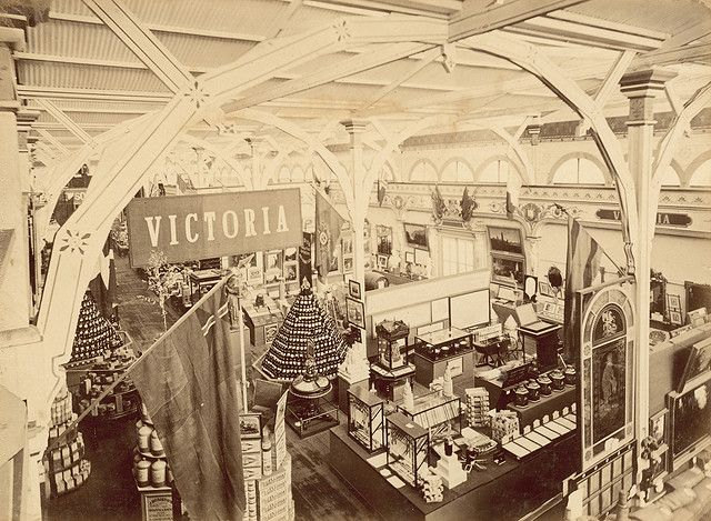 The Garden Palace: interior of the Victorian Court Taken some time in 1880