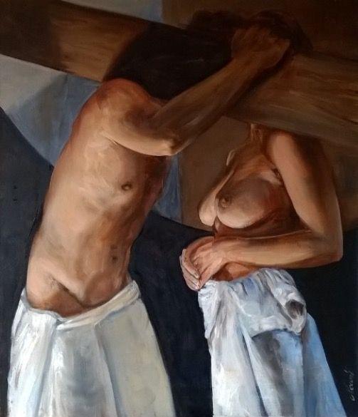 Cyprian Nocoń The Faithfulness 70x60cm oil on canvas cypriannocon