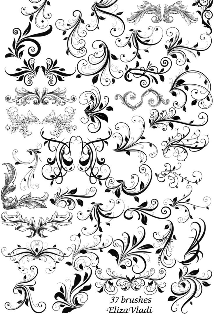 Stylish swirls by elizavladi on deviantart