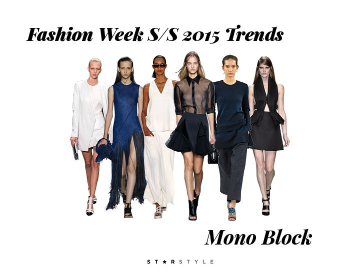 Fashion Week SS15 Trends: Mono Block