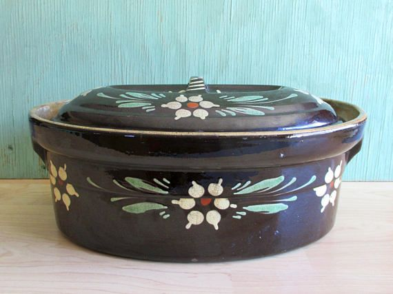 French Covered Dish Vintage Kitchen Bakeware