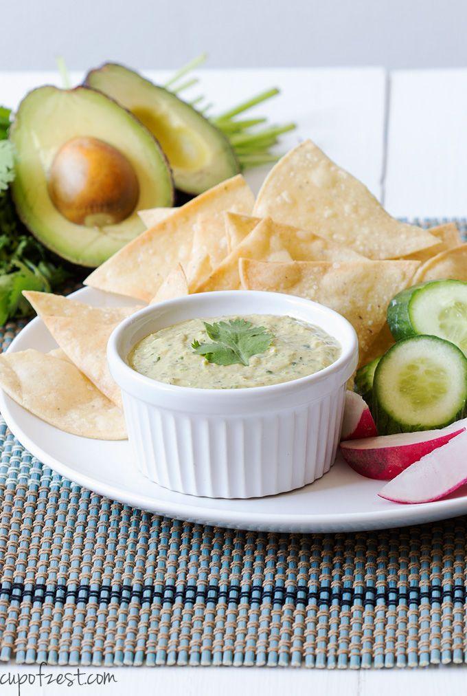 Avocado Cilantro Greek Yogurt Dip - A super creamy, versatile and easy ...