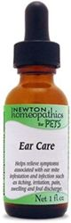 A homeopathic remedy to relieve symptoms of ear mites, minor ear infection, redness, swelling, and pain.