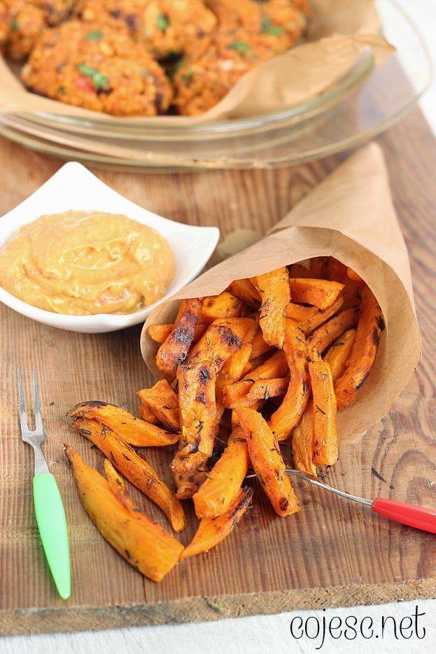 355 zdrowych przepisów dla Ciebie: szybko, smacznie i tanio!: Słodkie frytki z batatów: Prawdziwa eksplozja smaku!