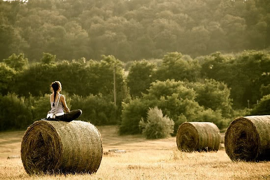 peace!: Field, Picture, Inspiration, Peace, Meditation, Hay Bale, Yoga, Photography, Country