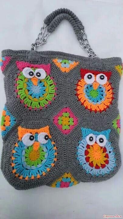 Free Crochet Owl Handbag Pattern : Crochet Divino Crochet Crochet - owl purse Pinterest ...