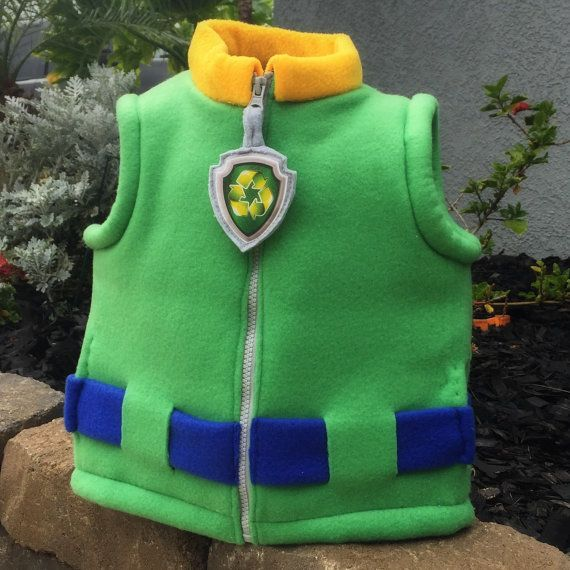 If you have a Recycle pup fan in your house, they will love this Rocky inspired puff vest. This puffer vest is a hand altered vest to look just like