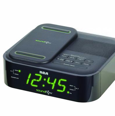 RCA Dual Wake FM Clock Radio With Soundflow Wireless Audio and USB Charging Port $35.99  #SEARSBACK2CAMPUS