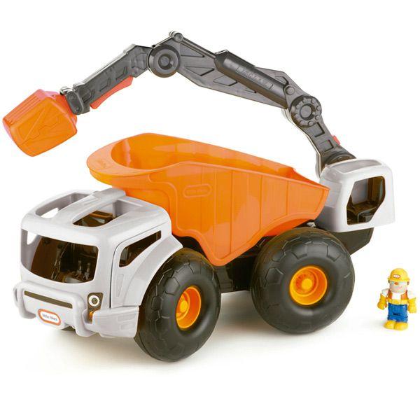 Excavadora gigante Monster Dirt Digger | LITTLE TIKES | Una excavadora con volquete de tamaño XXL para disfrutar a lo grande. El volquete se puede levantar para volcar la arena y el brazo es articulado. Además, incluye una figura que tanto puede ser el conductor del vehículo como el operario de la excavadora.