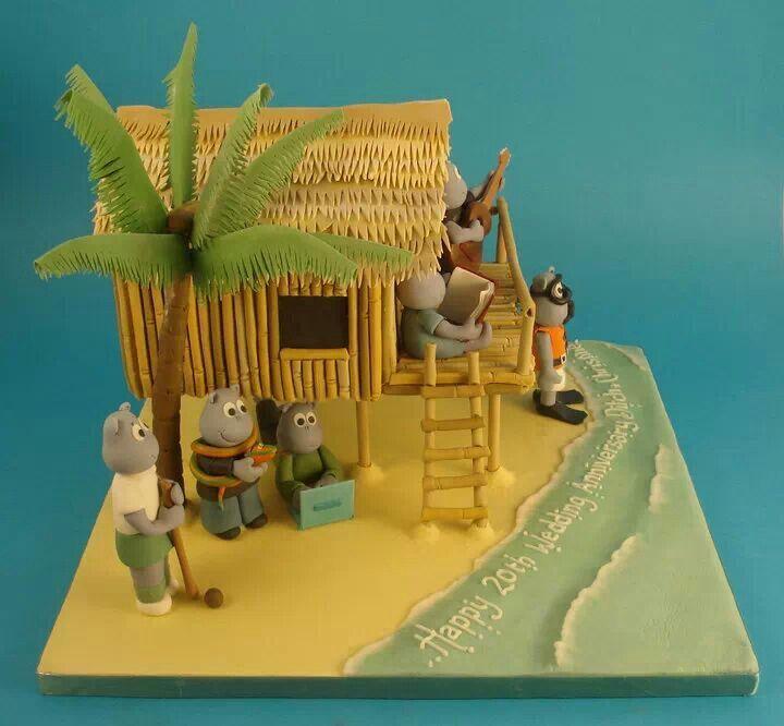 Beach Themed Gingerbread House: 176 Best Houses Fondant Cakes Images On Pinterest