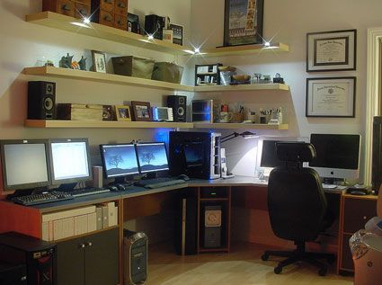 Now, how could you possibly guess this is a man's #home #office?