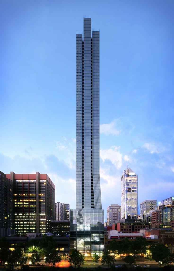 568 Collins Street, Melbourne, 224 m, UN-completion 2015, architect-Bruce Henderson Architects