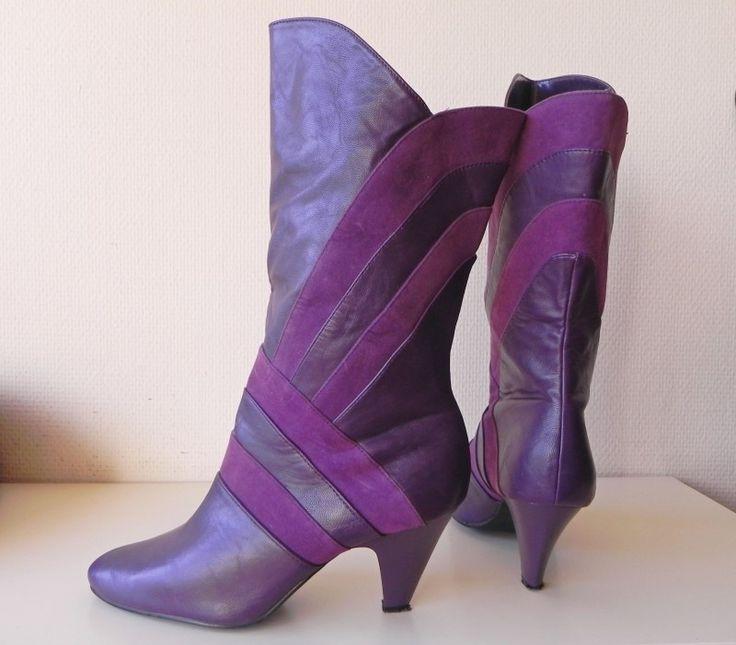 Bella vintage paarse laarzen (nr. 1461)
