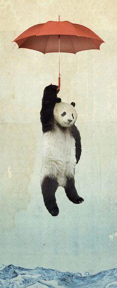 Pandachute Art Print by Vin Zzep | Society6